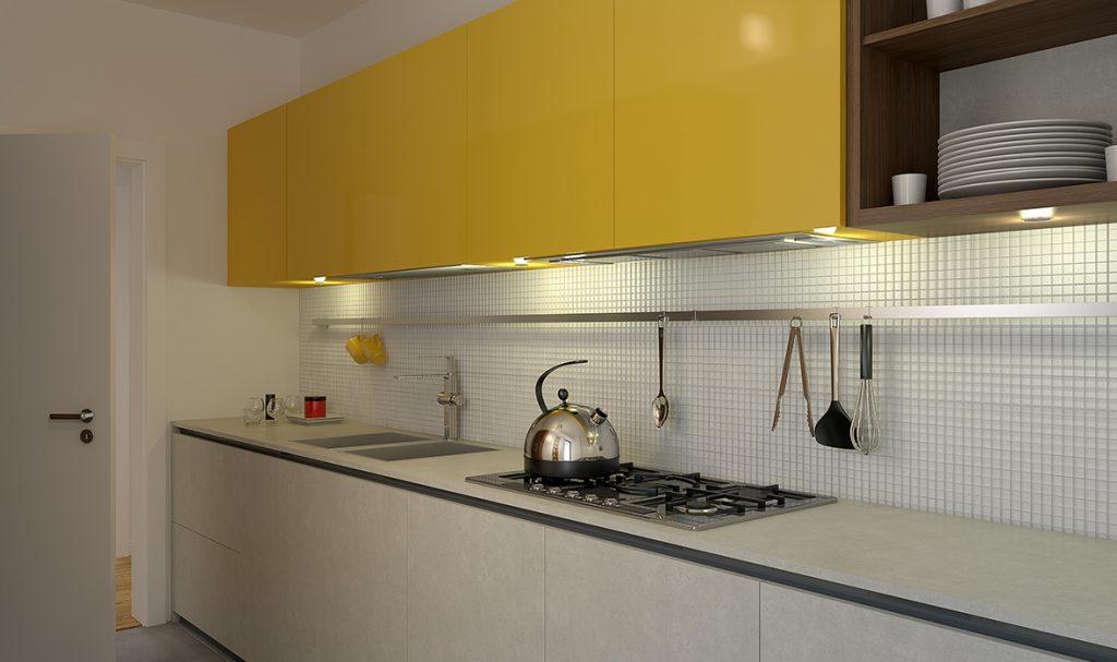O bucătărie luminoasă